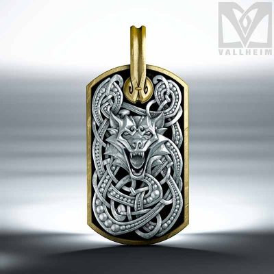 Fenrir-dog-tag-pendant-silver-edition-vallheim-2