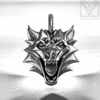 Fenrir-wolf-head-medallion-silver-edition-vallheim-2
