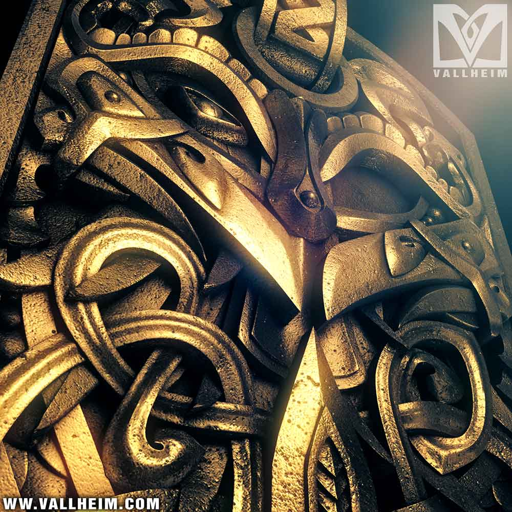 Odin gold pendant 3d model
