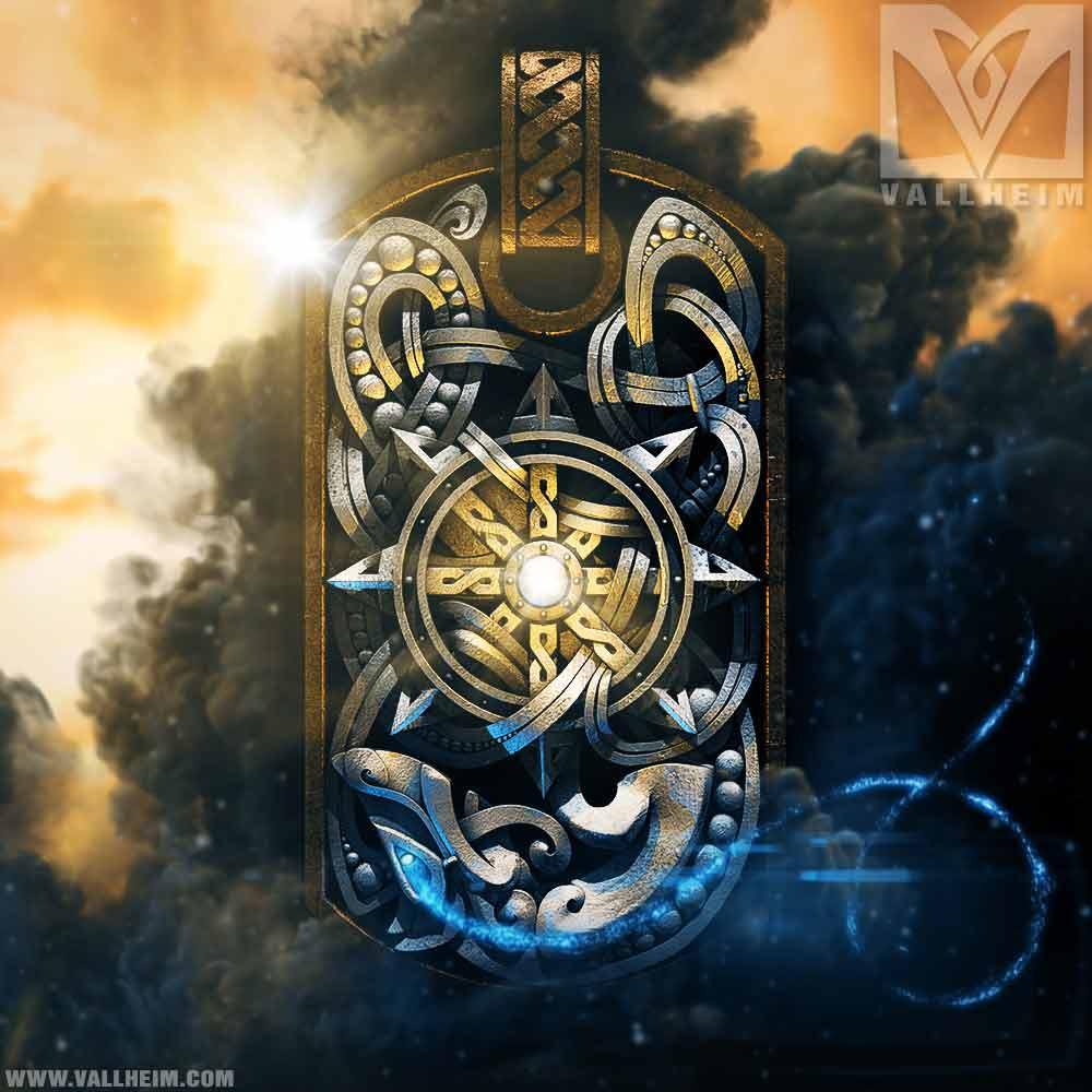 Sol sun north mythology viking dog tag pendant